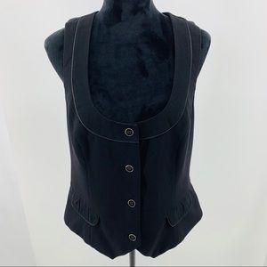 Stoosh Studio Black Fully Lined Vest 2 Buttons